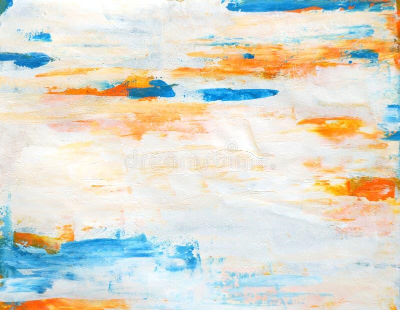 Teal e Art Painting astratto arancio immagini stock libere da diritti
