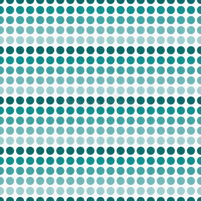 Teal et Ba blanc de répétition de Dot Abstract Design Tile Pattern de polka illustration libre de droits