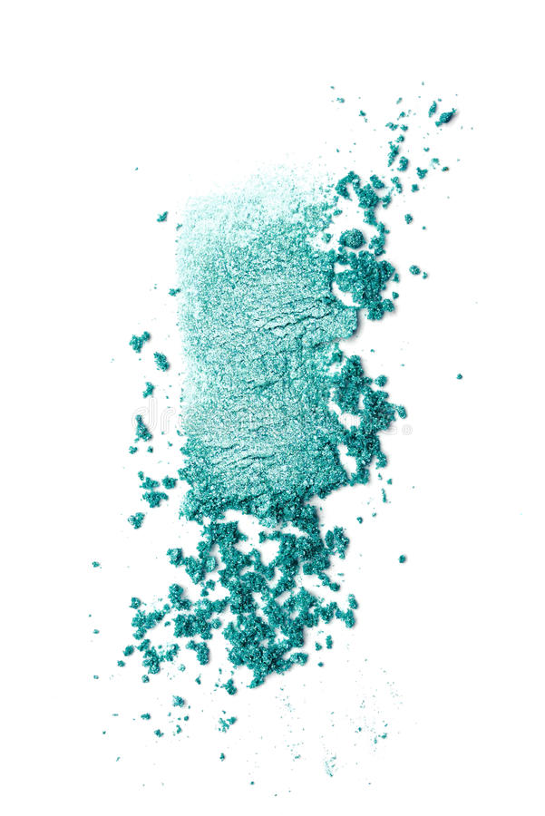 Teal eye shadow stock images