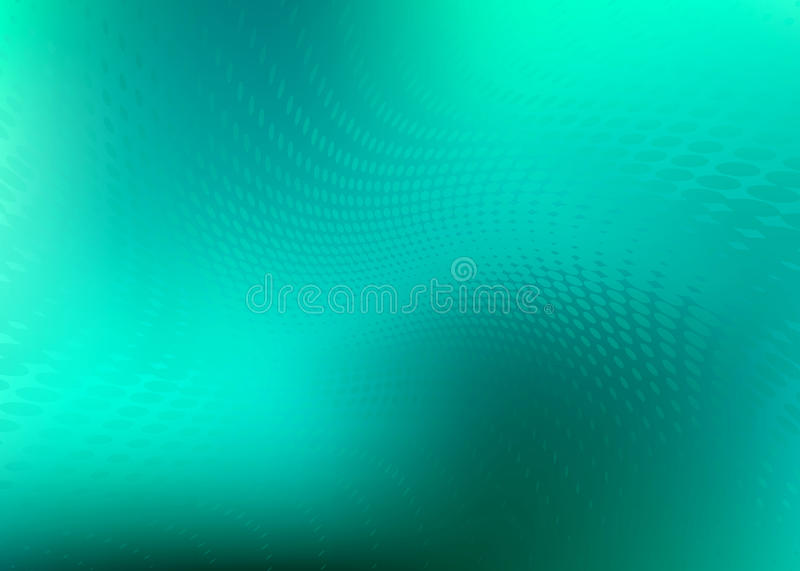 Teal Flowing Dots Background Pattern stock de ilustración