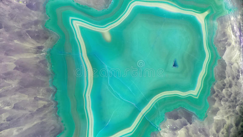 Teal Geode Gemstone Background fotografie stock