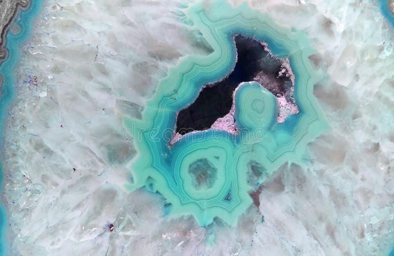 Teal Geode Gemstone Background imagem de stock royalty free