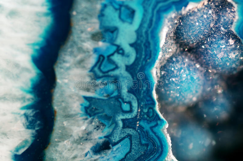 Teal Geode Macro royalty free stock images