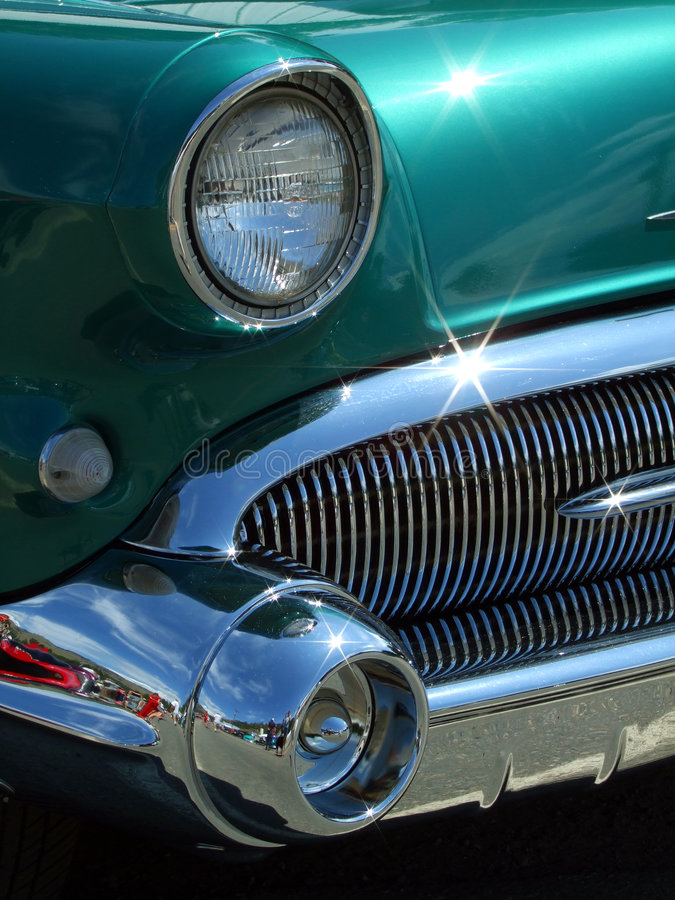 Download Teal Grill stock image. Image of teal, chrome, glare, bumper - 5729451