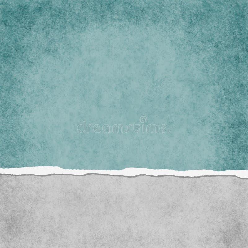 Teal Grunge Torn Textured Background léger carré illustration de vecteur