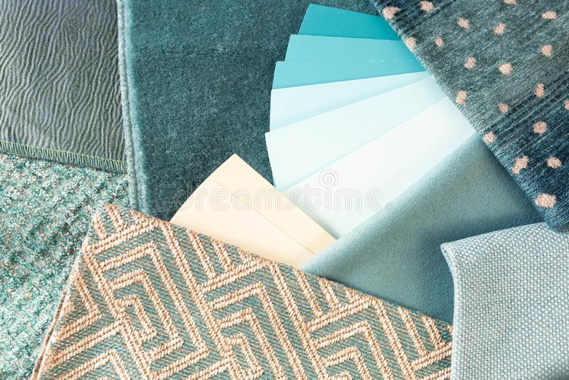 Teal interior decoration plan royalty free stock photos
