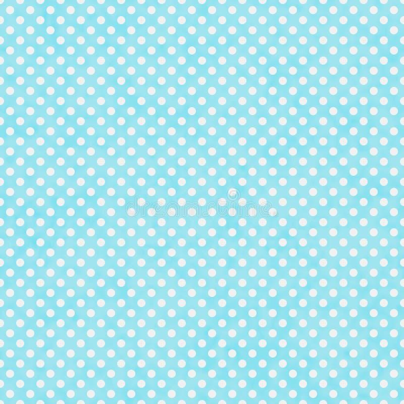 Teal luminoso e piccola Polka bianca Dots Pattern Repeat Background royalty illustrazione gratis