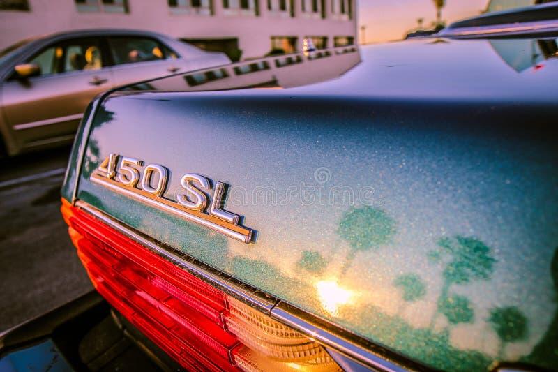 Teal Mercedes-benz 450 Sl Car stock photos