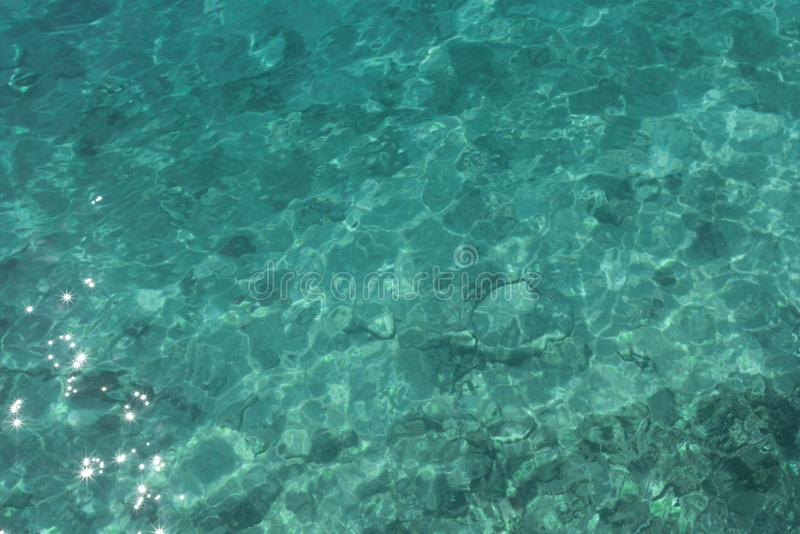 Teal ocean water texture stock images