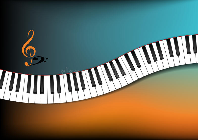 Download Teal And Orange Background Curved Piano Keyboard Royalty Free Stock Photo - Image: 27859385