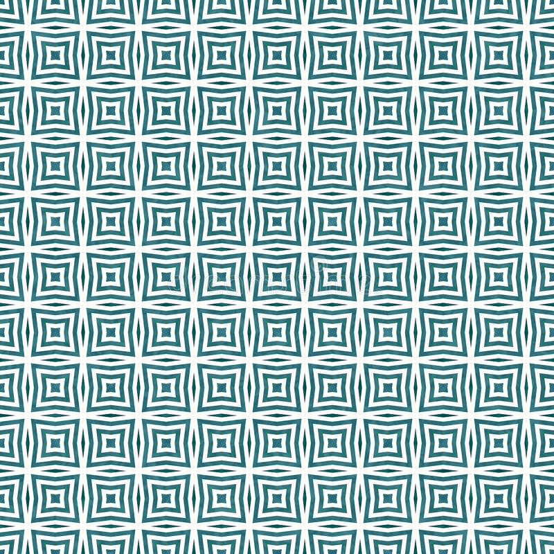 Teal square abstract geometric seamless textured pattern background royalty free stock photography