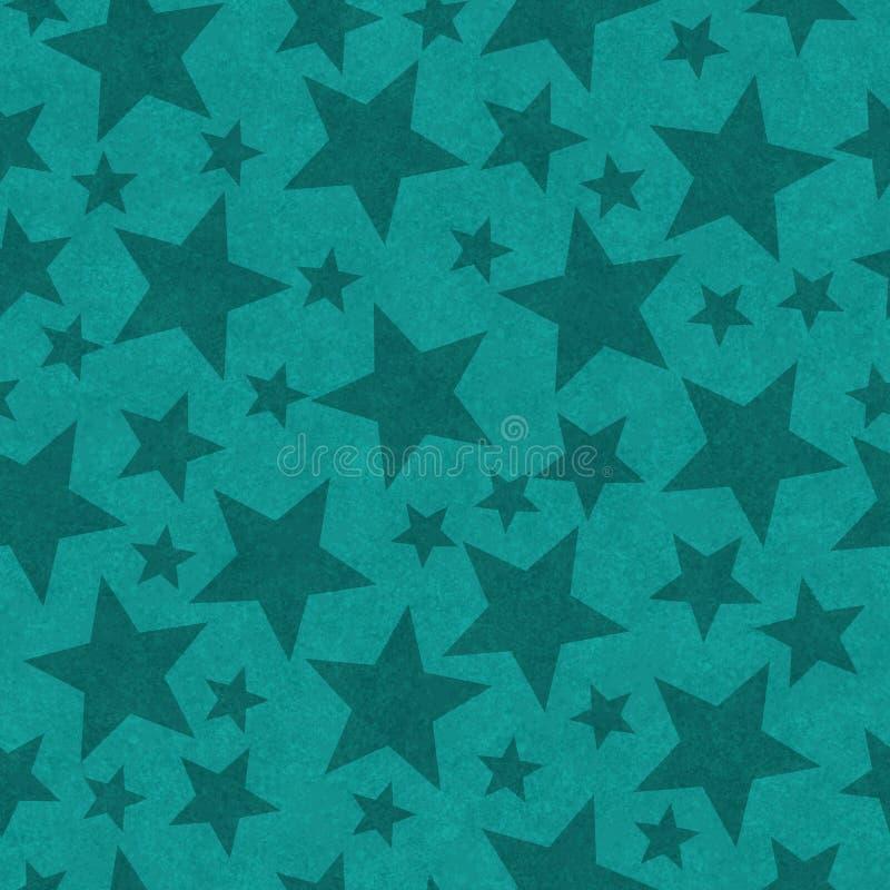Teal star-shape seamless pattern background vector illustration