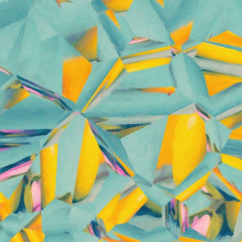 Teal vif et illustration abstraite moderne jaune illustration libre de droits