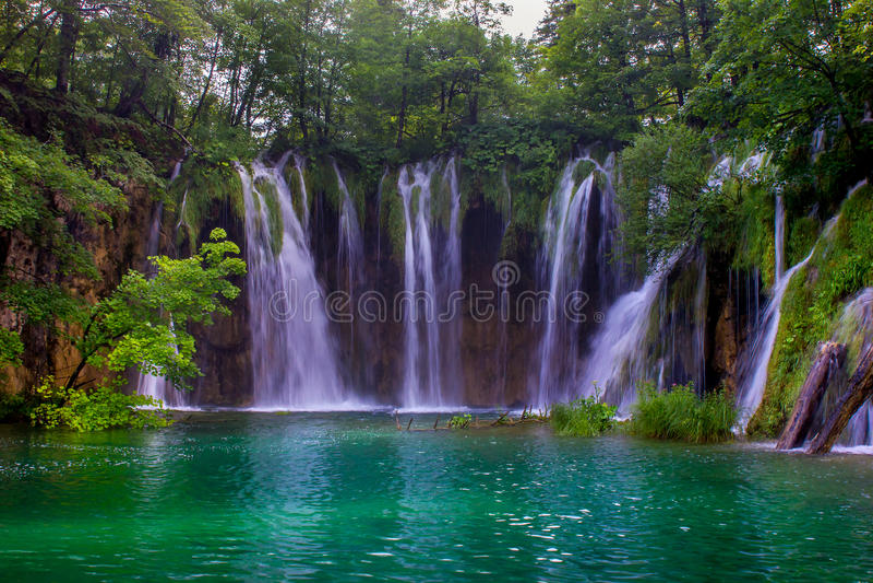 Teal Waterfall stock fotografie