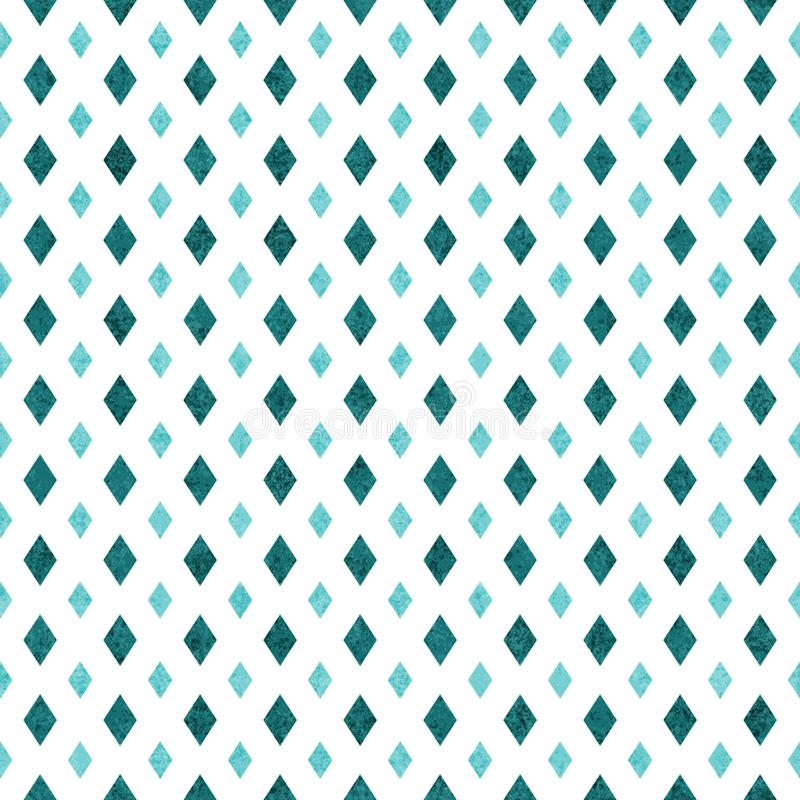 Teal and white diamond abstract geometric seamless textured pattern background. Teal and white diamond abstract geometric seamless and repeat textured pattern royalty free illustration