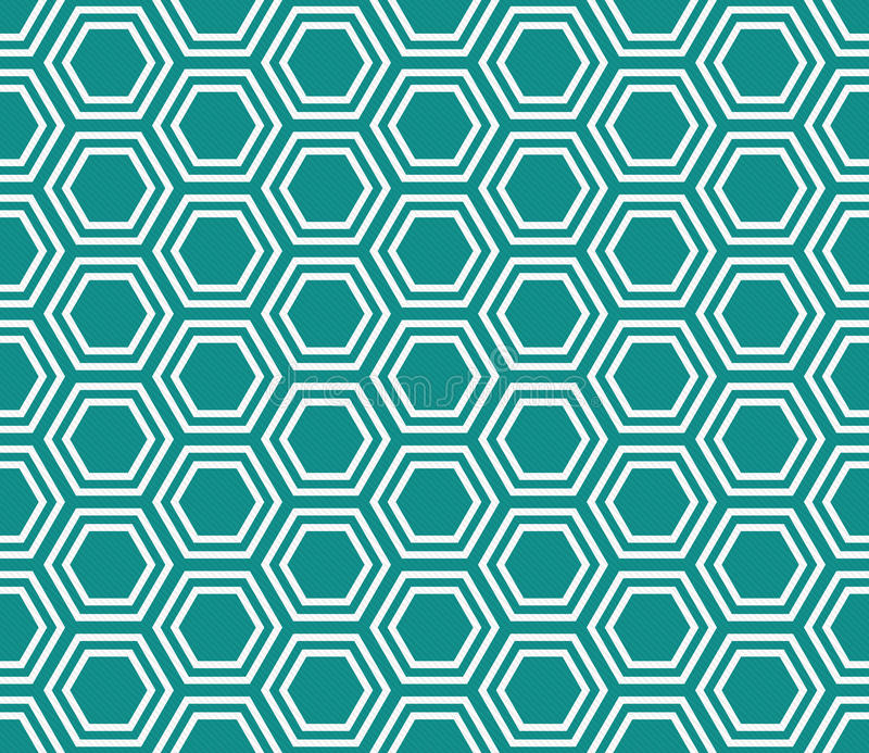 Teal and White Hexagon Tiles Pattern Repeat Background. That is seamless and repeats stock images