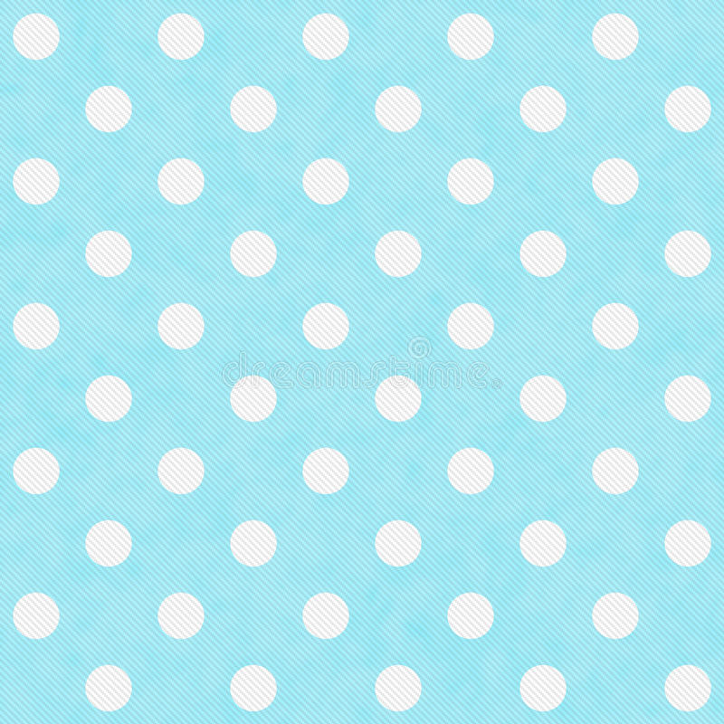 Teal and White Large Polka Dots Pattern Repeat Background royalty free illustration