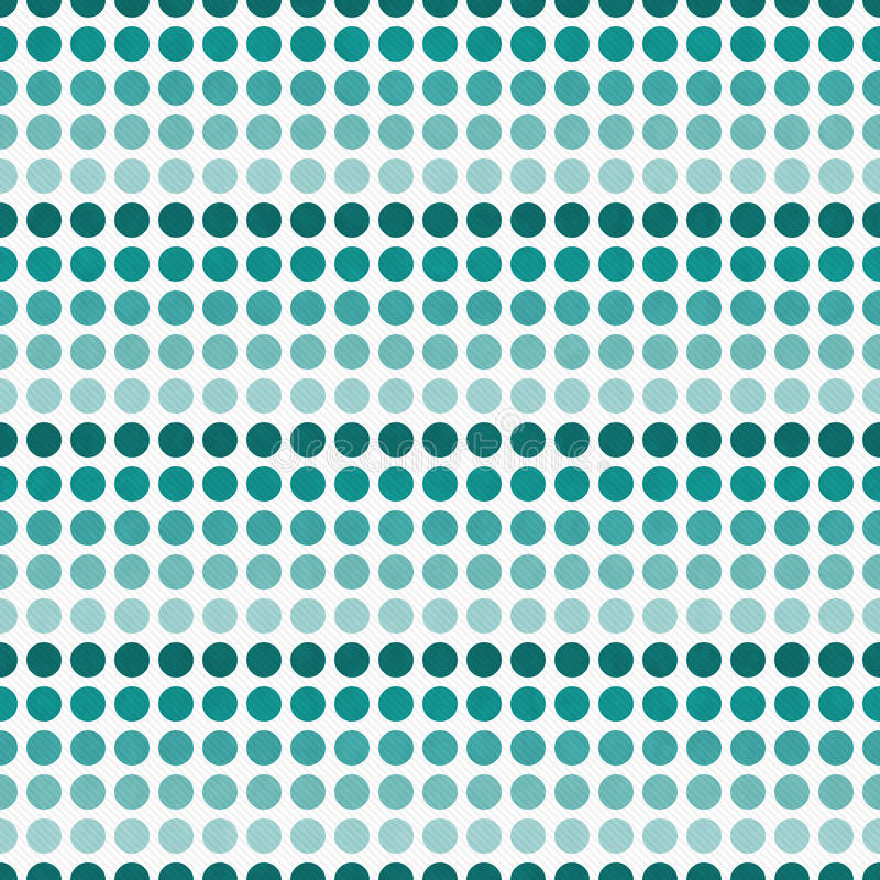 Teal and White Polka Dot Abstract Design Tile Pattern Repeat Ba royalty free illustration