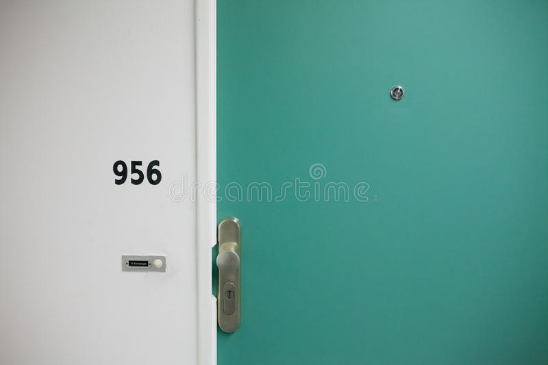 Teal Wooden Door With Stainless Steel Door Knob Free Public Domain Cc0 Image