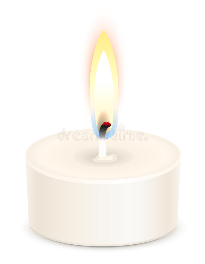 Tealight candle royalty free illustration