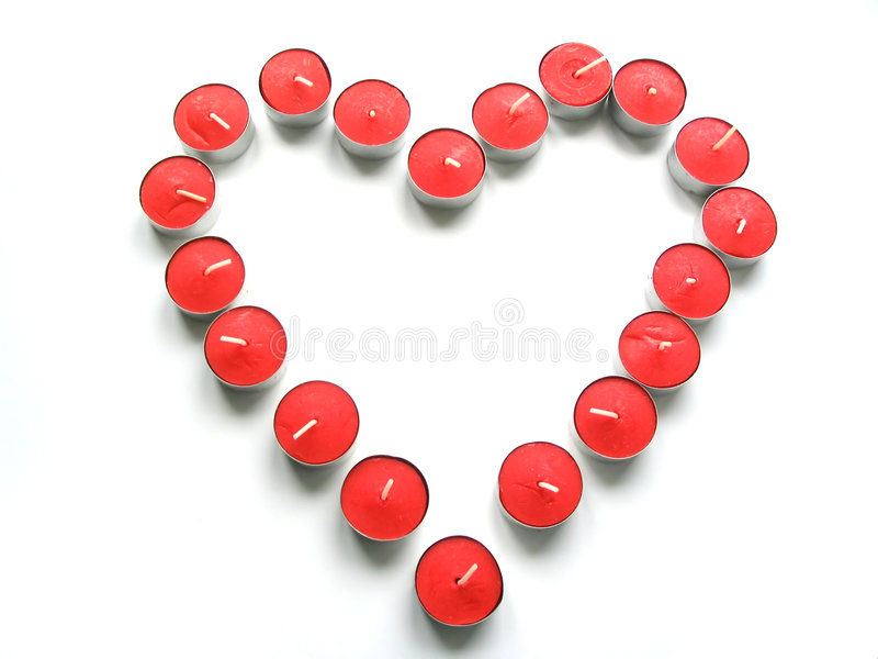 tealight för 2 hjärta arkivfoto