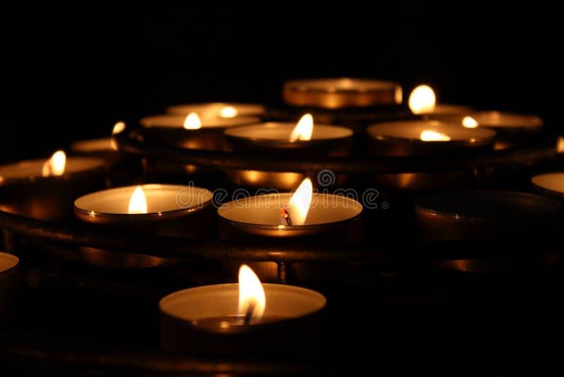 tealights стоковое изображение