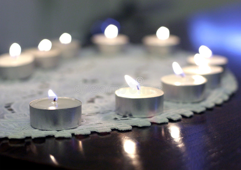 Tealights Foto de archivo