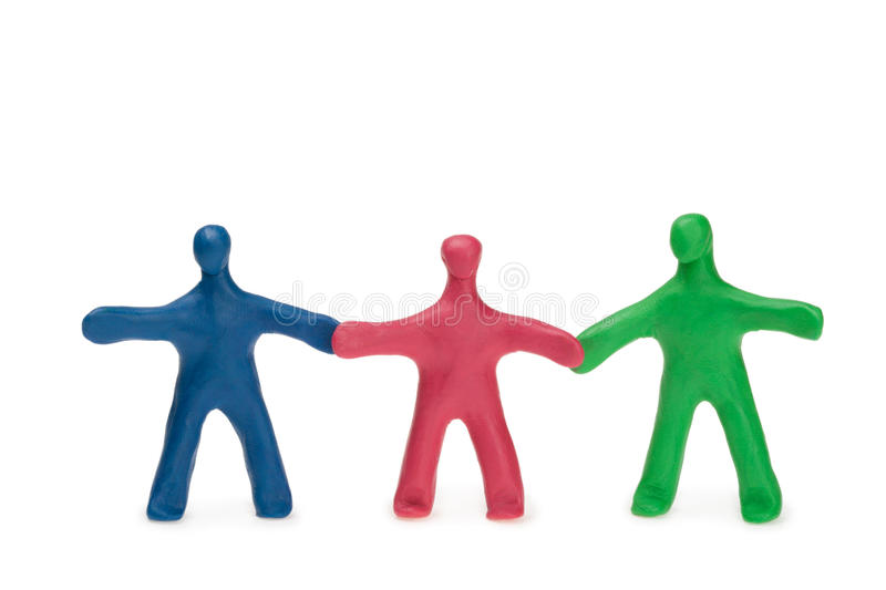 Team. Fellows from color plasticine stock images