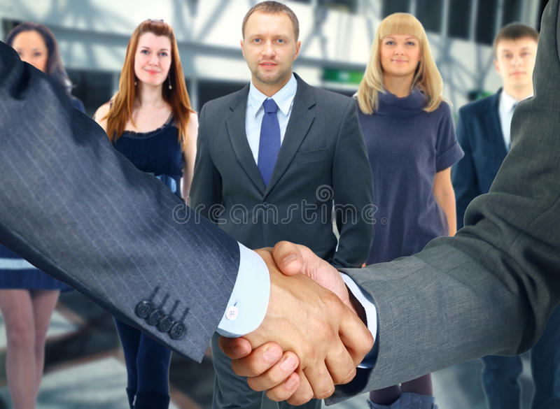 Team. Business handshake and business people royalty free stock images