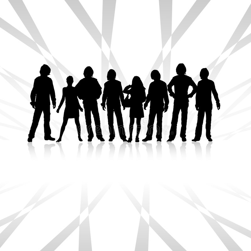 Team vector illustratie