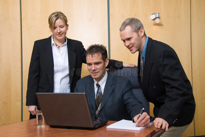 Team of 3 royalty free stock image