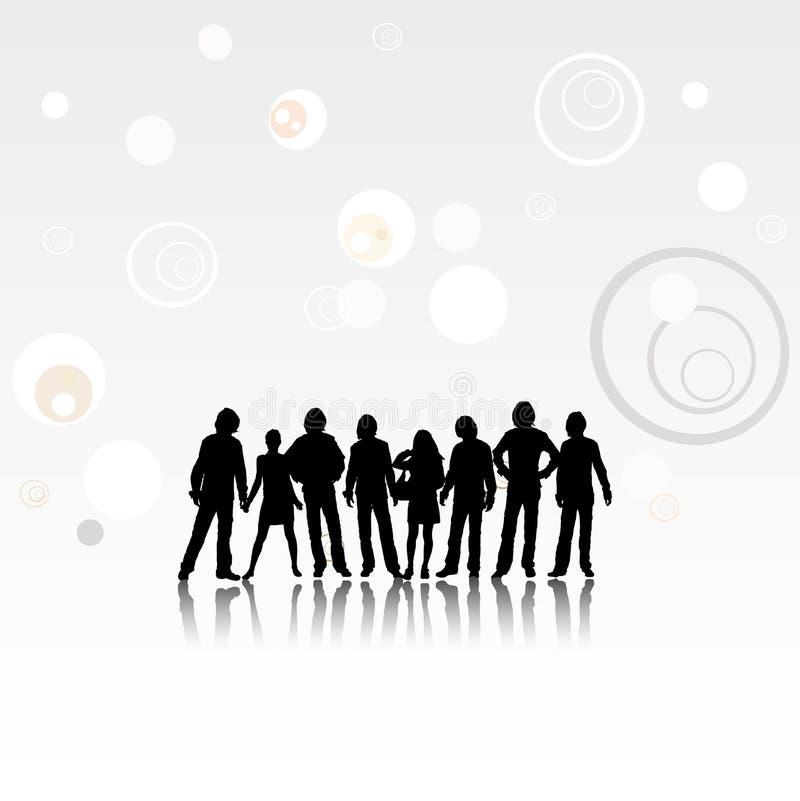 Team royalty free illustration