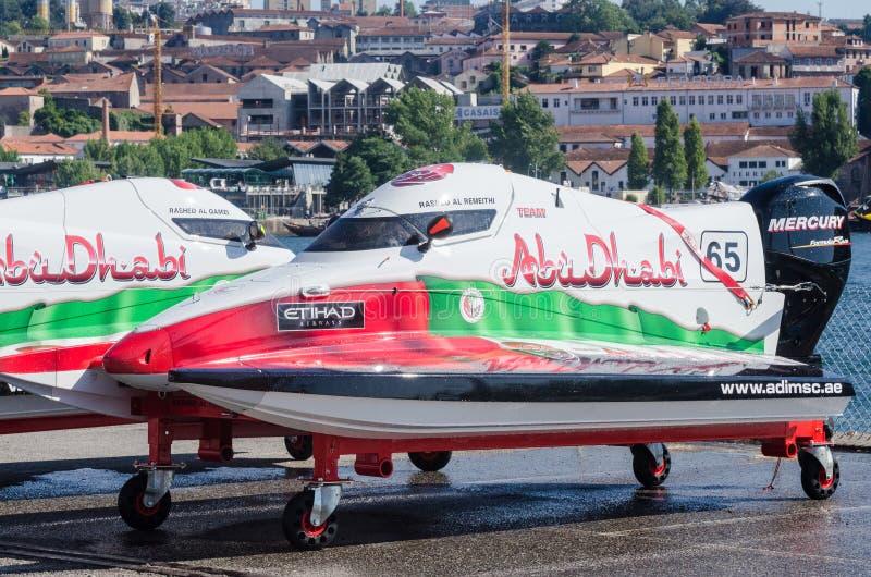 Team Abu Dhabi-bootvoorbereidingen royalty-vrije stock afbeelding