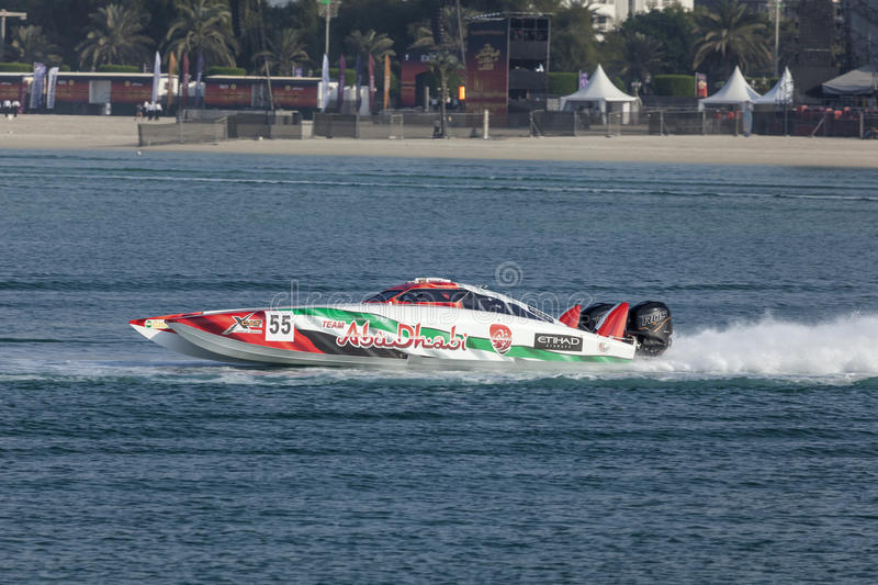 Team Abu Dhabi Powerboat stock foto's