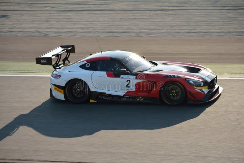 Team Akka-ASP Mercedes SLS AMG GT3 at Monza stock photos