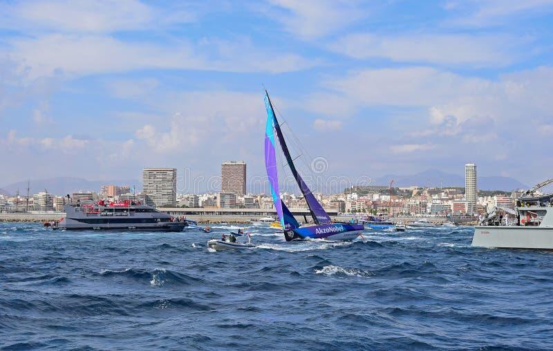 Team AkzoNobel Volvo Ocean Race Alicante royalty free stock photography