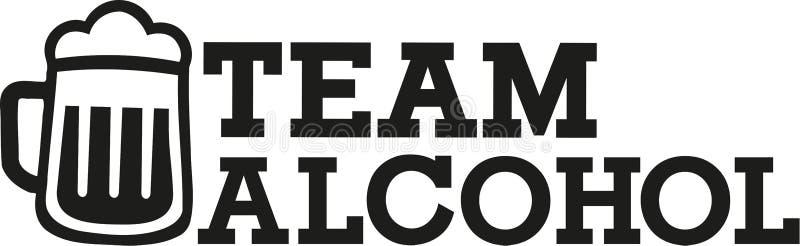 Team Alcohol-Slogan vektor abbildung