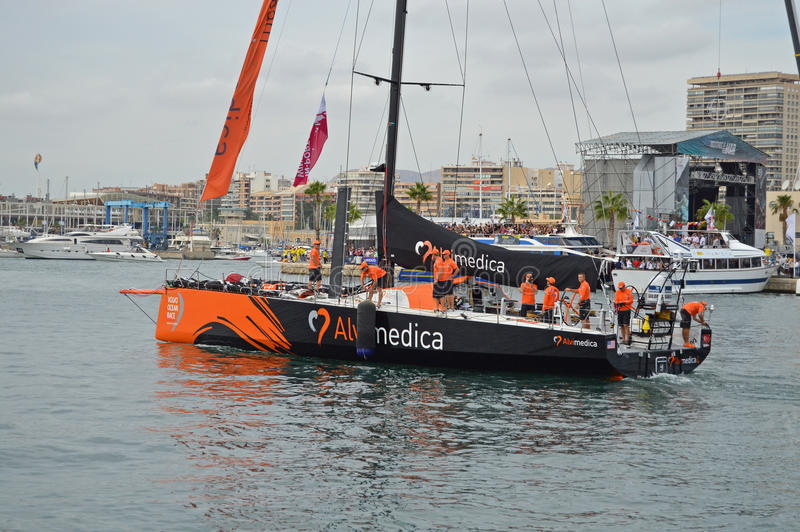 Team Alvimedica Begin The First Leg Of The Volvo Ocean Race stock photo