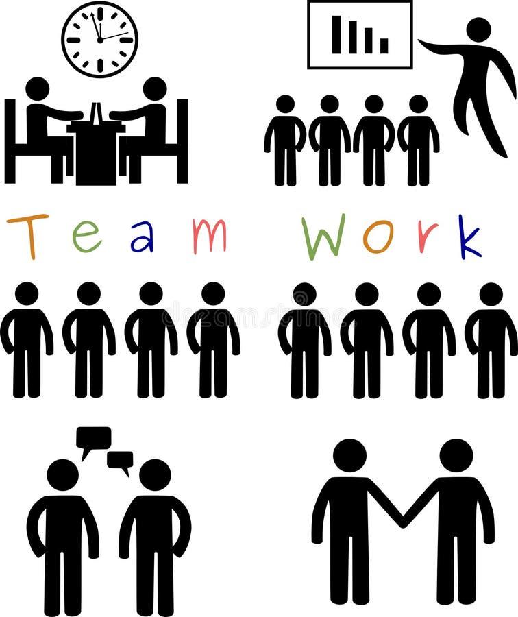team arbete vektor illustrationer