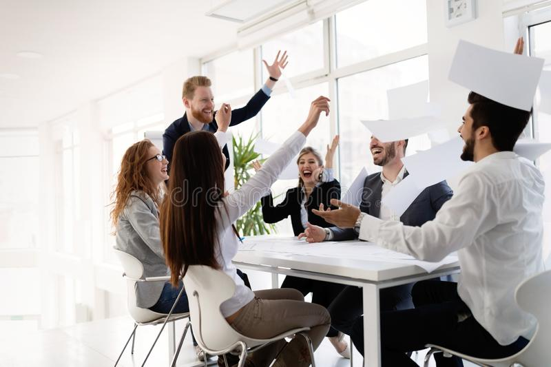 Team of architects working together on project royalty free stock images