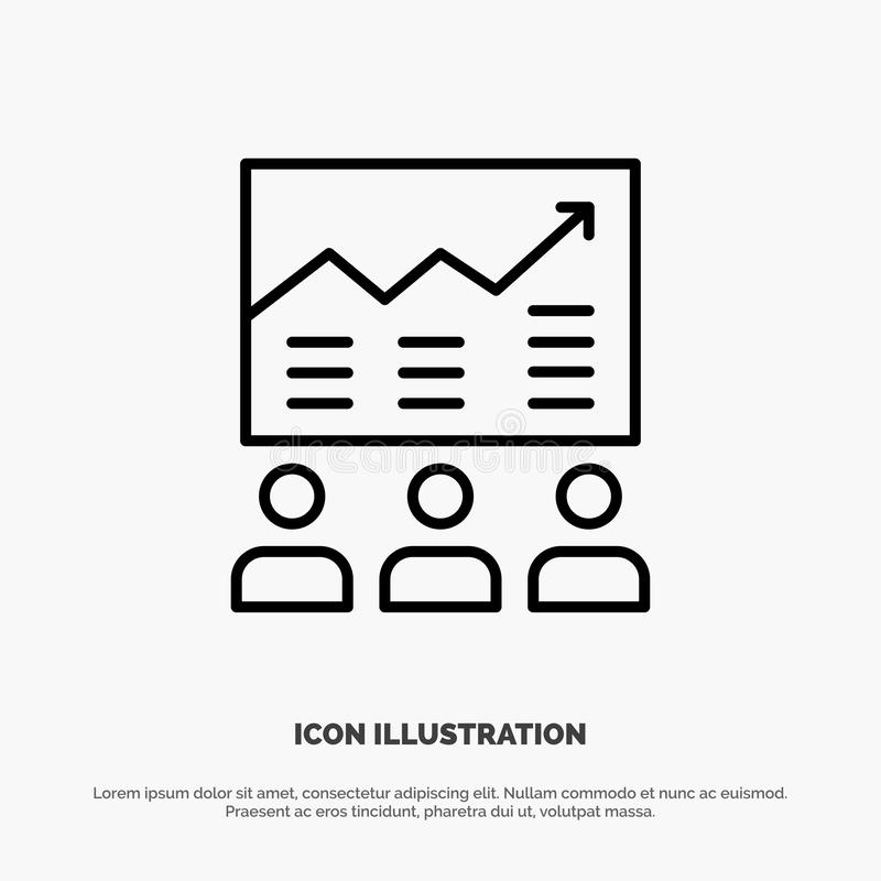 Team, Arrow, Business, Chart, Efforts, Graph, Success Line Icon Vector vector illustration