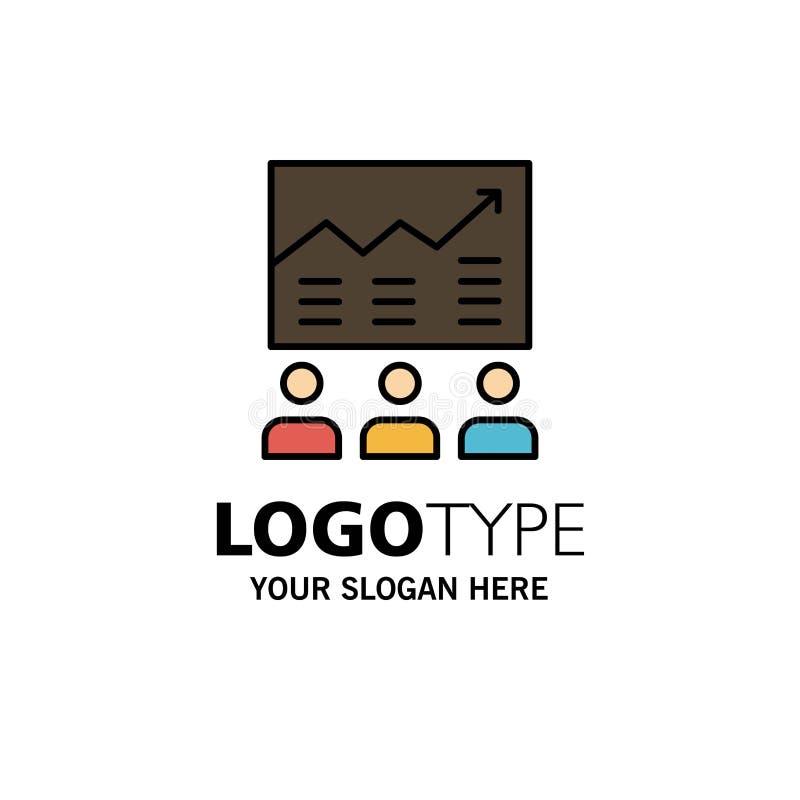 Team, Arrow, Business, Chart, Efforts, Graph, Success Business Logo Template. Flat Color vector illustration