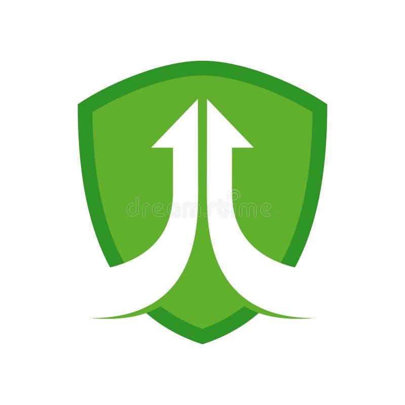Team Arrow Modern Shield Symbol de aumentação Logo Design ilustração do vetor