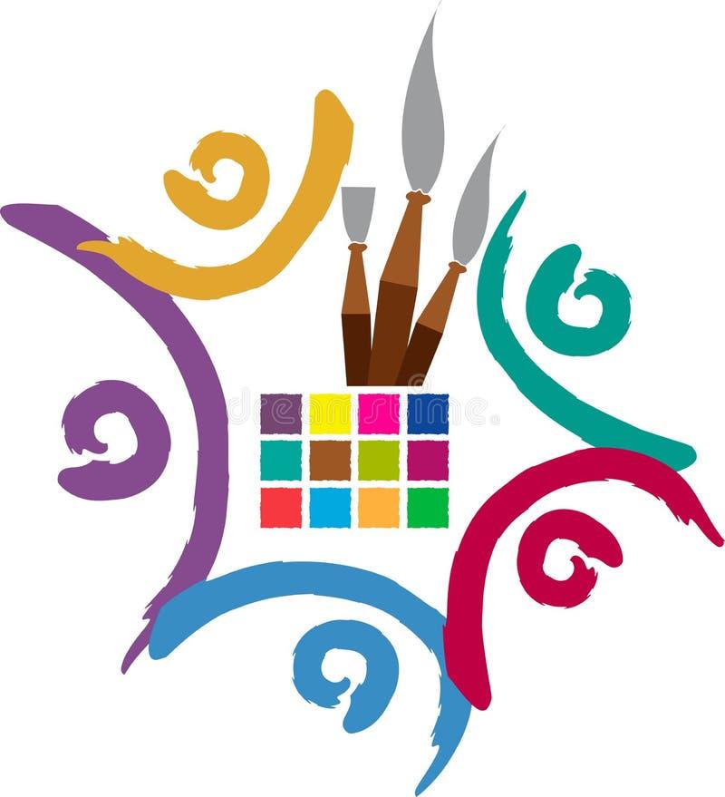 Team artist logo stock illustration