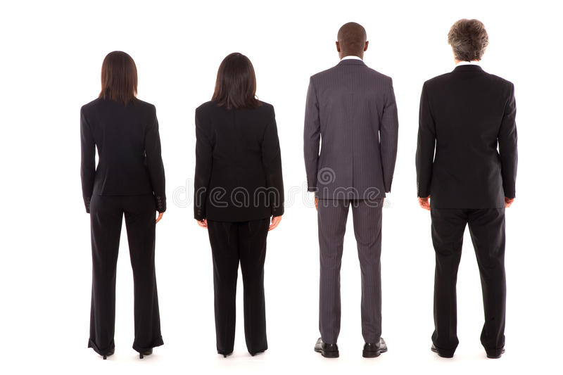 Team from behind royalty free stock images