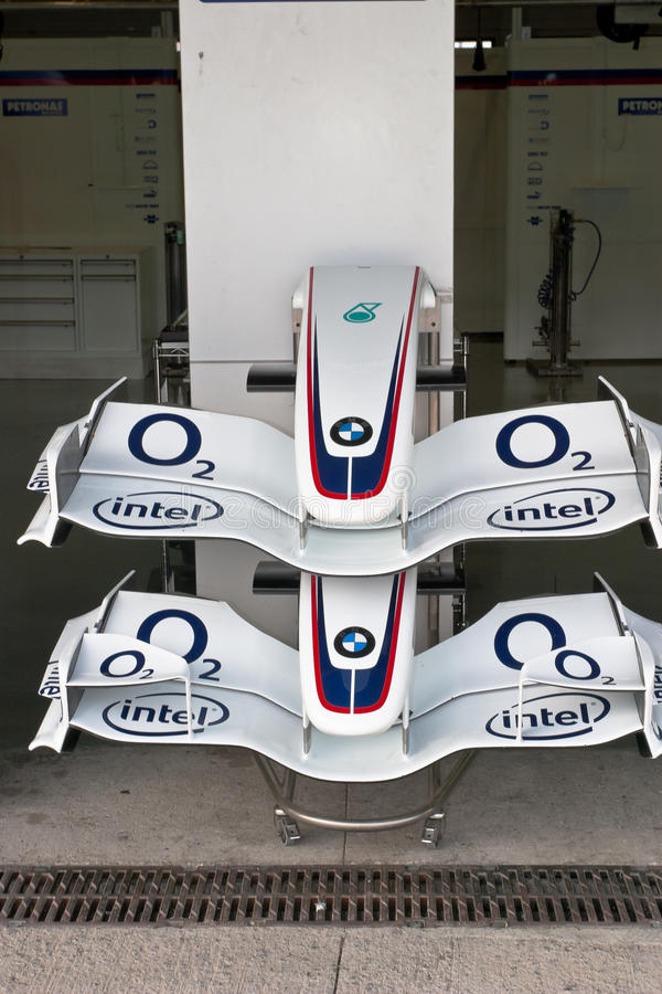 Team BMW-Sauber F1, two front wing, 2006 stock photos
