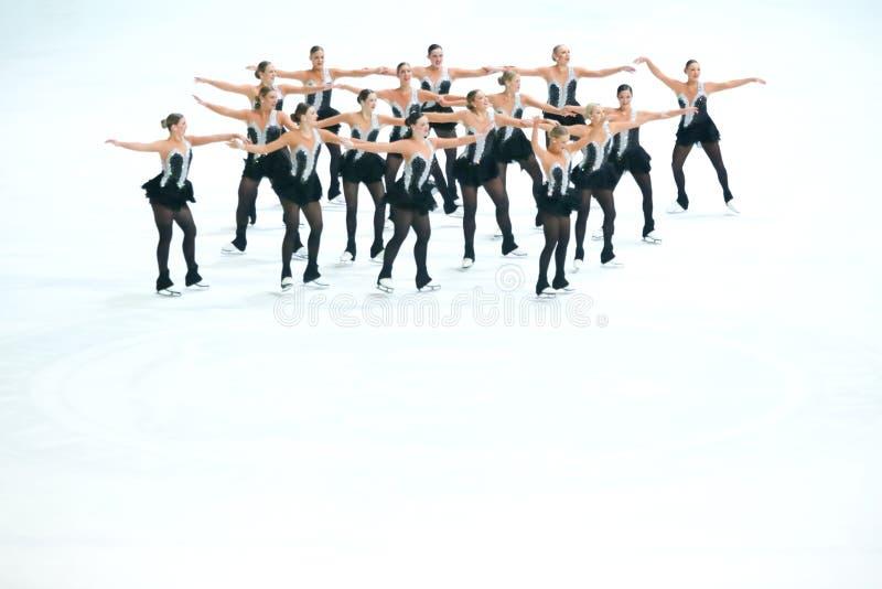 Team Boomerang-het dansen royalty-vrije stock foto's
