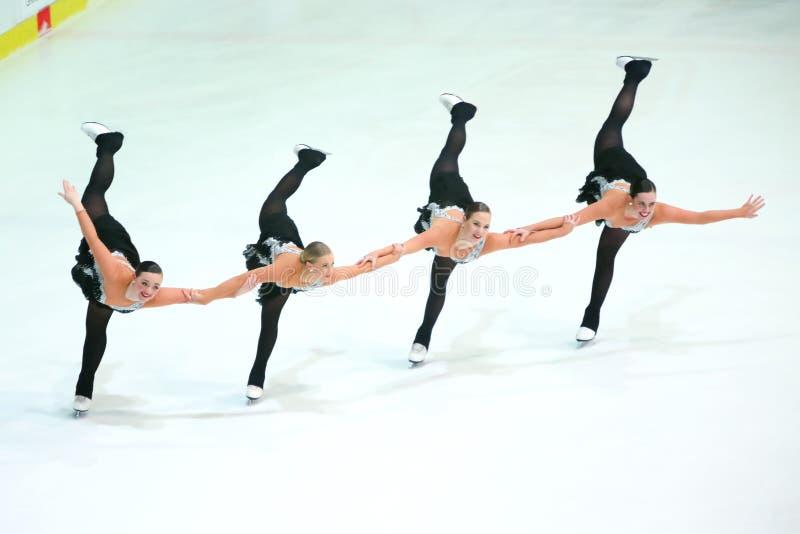 Team Boomerang-pirouette stock fotografie
