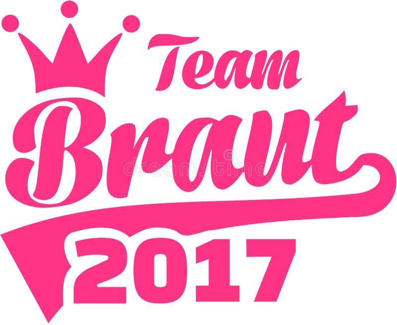 Team Bride 2017 alemão ilustração do vetor