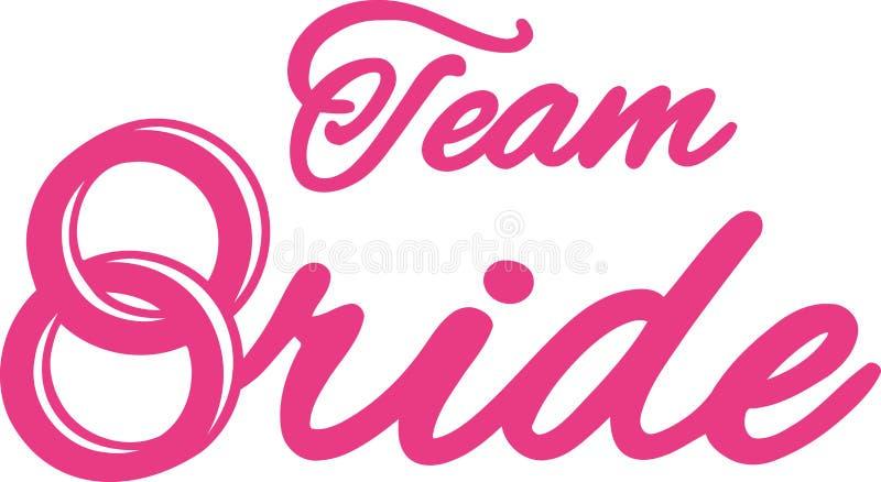 Team Bride com alianças de casamento ilustração royalty free